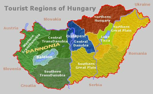 Tourist regions Jump To Hungary